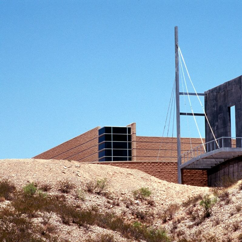The bow mast and observation deck as seen from below the Historic Trail Site.<br><br><b>Photo by El Camino Real HTS</b>