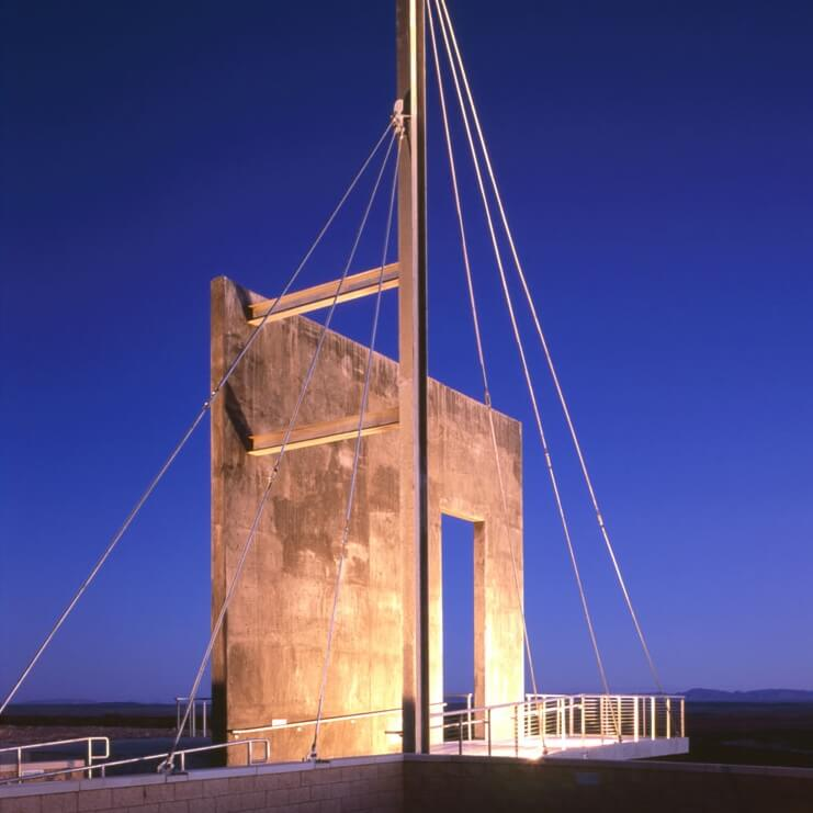 Night time of the bow mast at the Historic Trail Site.<br><br><b>Photo by El Camino Real IHC</b>
